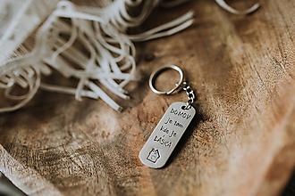 Drobnosti - Prívesok na kľúče Domov je tam kde je láska - 11472931_