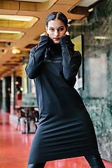 Šaty - FNDLK mikinošaty 455 RVH midi_glitter - 11472289_