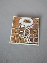 """Papiernictvo - gratulačná pohľadnica """"tenis"""" - 11472906_"""