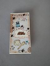 """Papiernictvo - gratulačná pohľadnica pre """"kávičkára"""" s kávovými zrnkami - 11472941_"""