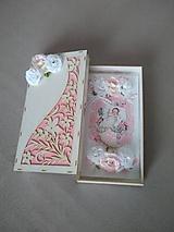 """Papiernictvo - gratulačná pohľadnica v krabičke pre dievčatko """"KRSTINY"""" - 11472997_"""