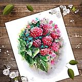 Kresby - Maľba kvetín Geraldine - 11474253_