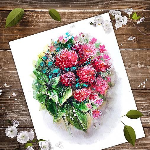 Maľba kvetín Geraldine