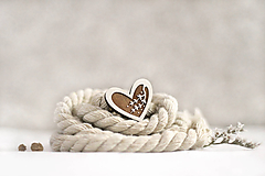 Odznaky/Brošne - Mini brošňa Srdcová halúzka  - 11473752_