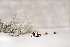 Náušnice - Srdcové halúzky - 11473869_