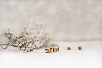 Náušnice - Mini prasiatka (Zlatá) - 11473644_