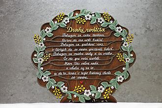 Dekorácie - Poďakovanie rodičom na stojane - Venček - 11473018_