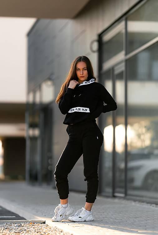 Teplákové nohavice čierne