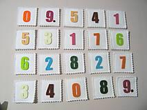 Hračky - Pexeso - čísla biele - 11474700_