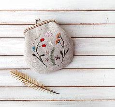 Peňaženky - Peňaženka Letné kvety a plody - 11473907_