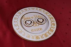 Prstene - Drevený podnos vankúšik na obrúčky gravirovaný 3 - 11472853_