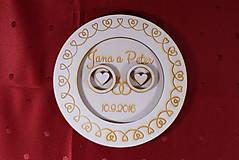 Prstene - Drevený podnos vankúšik na obrúčky gravirovaný 3 - 11472855_