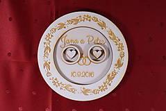 Prstene - Drevený podnos vankúšik na obrúčky gravirovaný 4 - 11472860_