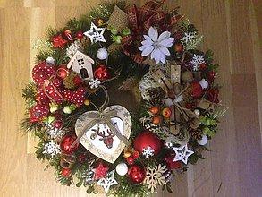 Dekorácie - Bohaty vianočny velky veniec 45cm - 11473394_