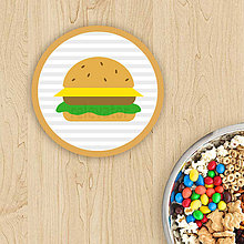 Dekorácie - Podšálka Detské maxi (hamburger) - 11474031_