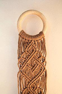 Dekorácie - Makramé nástenná dekorácia - 11478342_
