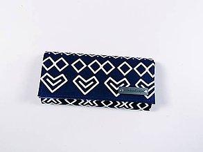 Peňaženky - Modrá čičmanská peňaženka - 11476855_