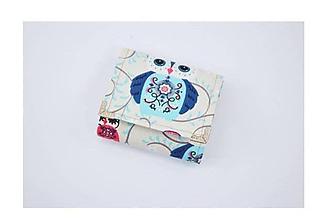 Peňaženky - Peňaženka malá sovička na béžovom - 11478855_