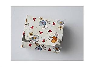 Peňaženky - Peňaženka malá vtáčiky na béžovom - 11478864_
