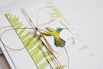 Papiernictvo - Gratulačný pozdrav - kolibrík I - 11478157_