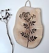 Drevený obrázok-Rastlina