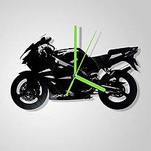 Hodiny - Motorka Kawasaki - vinylové hodiny (vinyl clocks) - 11475668_