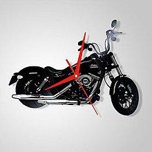 Hodiny - Motorka Harley Davidson - vinylové hodiny (vinyl clocks) - 11475671_