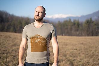 Tričká - SALE-Pánske horské tričko. Gerlach / Brown - 11475476_