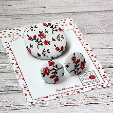 """Sady šperkov - Náušky a brošňa """"Vintage meadow"""" II. - 11476612_"""