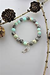 Náramky - jaspis anjelský náramok - 11477060_