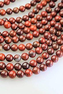 Minerály - AKCIA! jaspis červeno-hnedý korálky 8mm - 11476669_