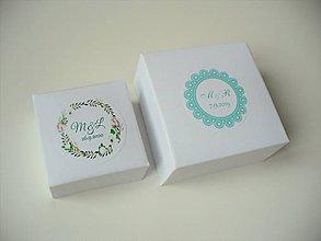 Krabičky - svadobné krabičky + leporelo GRATIS - 11476334_