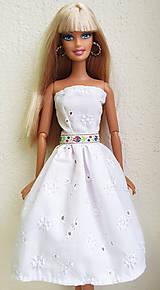 Hračky - Madeirové midi šaty pre Barbie - 11476796_