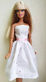 Hračky - Madeirové midi šaty I. pre Barbie - 11476806_