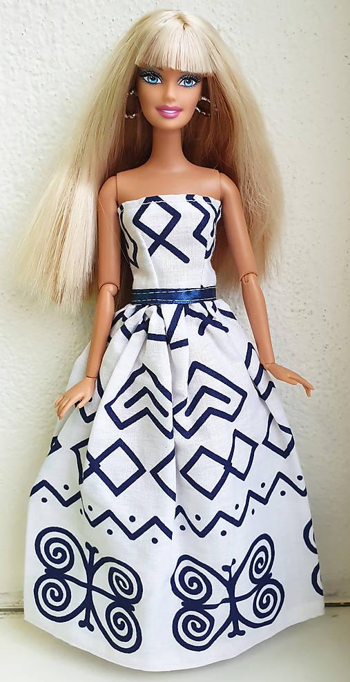 Čičmany šaty pre Barbie