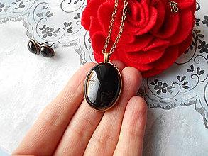 Sady šperkov - Achátová sada - 11478378_