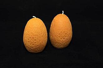 Svietidlá a sviečky - Veľkonočné vajíčko so vzorom - 11478261_