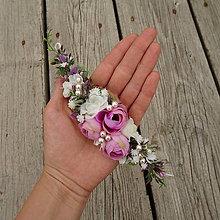 Ozdoby do vlasov - Květinový oblouk do vlasů Altarf - 11476093_