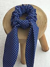 Ozdoby do vlasov - gumička do vlasov- modrá - 11476432_