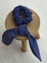 Ozdoby do vlasov - gumička do vlasov- modrá - 11476444_