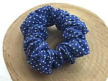 Ozdoby do vlasov - gumička do vlasov- modrá - 11476445_