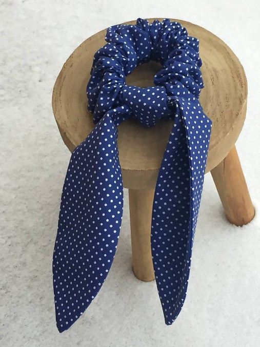 gumička do vlasov- modrá