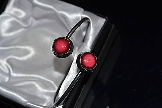 Náramky - malinově - 11478279_