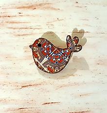 Odznaky/Brošne - brošňa vtáča folk 1 - 11478986_