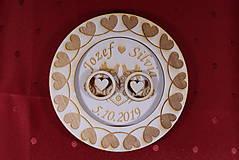 Prstene - Drevený podnos vankúšik na obrúčky gravirovaný 6 - 11475985_