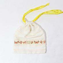 Úžitkový textil - Zero waste nákupné vrecúško motýľ - 11478836_