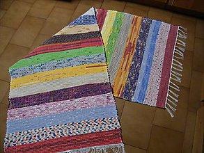 Úžitkový textil - Tkaný koberec pestrofarebný  9 - 11478960_