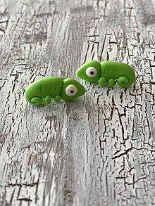 Náušnice - chameleón - napichovačky - 11475657_