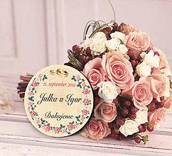 Darčeky pre svadobčanov - Svadobná magnetka - 11480945_