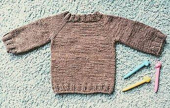 Detské oblečenie - Pletený pulóvrik na ročné dieťatko - 11480871_